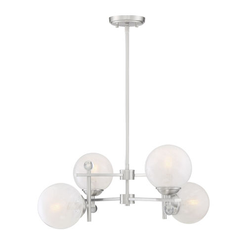 Medina Satin Nickel Four-Light Chandelier