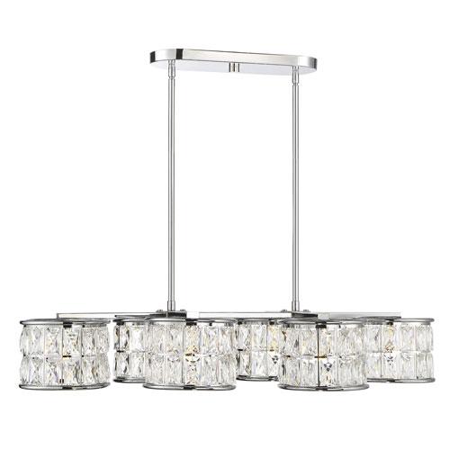 Savoy House Citrine Polished Chrome LED Island Pendant