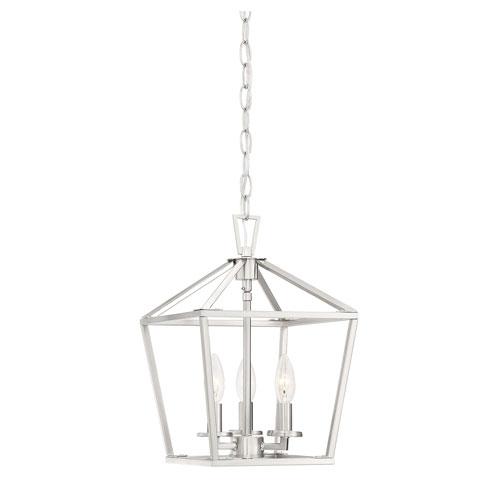 Savoy House Townsend Satin Nickel 10-Inch Three-Light Pendant