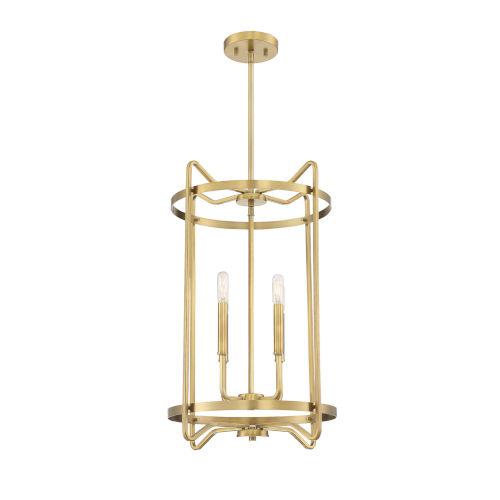 Kent Warm Brass Four-Light Pendant