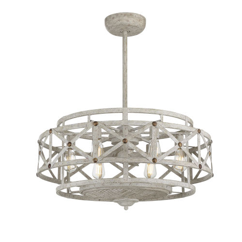Colonade Provence with Gold Six-Light LED Fandelier