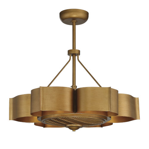 Stockholm Gold Patina Six-Light LED Fandelier