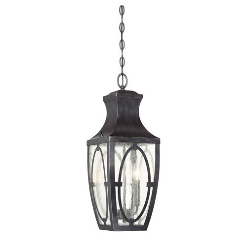 Savoy House Shelton English Bronze and Gold Two-Light Outdoor Pendant