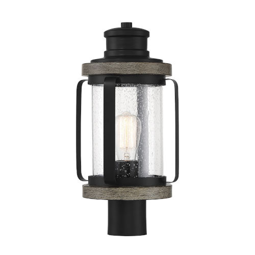 Parker Black and Gray One-Light Outdoor Post Mount