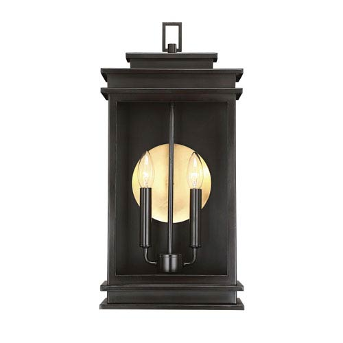 Savoy House Reading English Bronze Two-Light Outdoor Wall Sconce