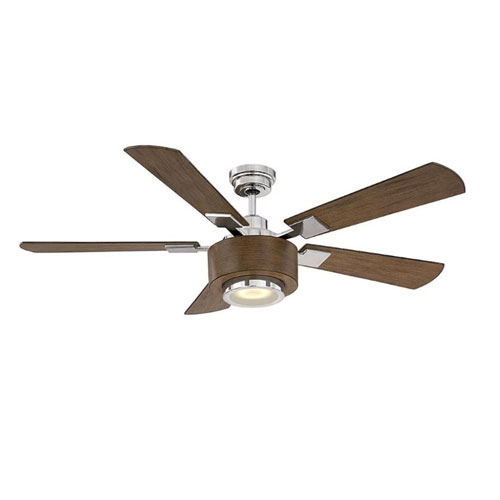 Winchester Polished Nickel LED Ceiling Fan