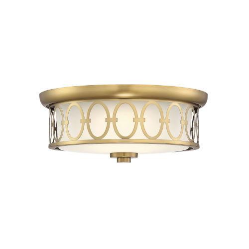 Sherrill Warm Brass LED Flush Mount