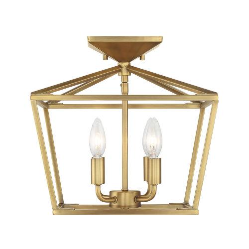 Townsend Warm Brass Four-Light Semi-Flush
