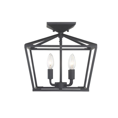 Townsend Matte Black Four-Light Semi-Flush