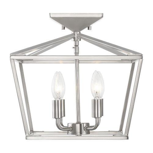 Townsend Satin Nickel Four-Light Semi-Flush
