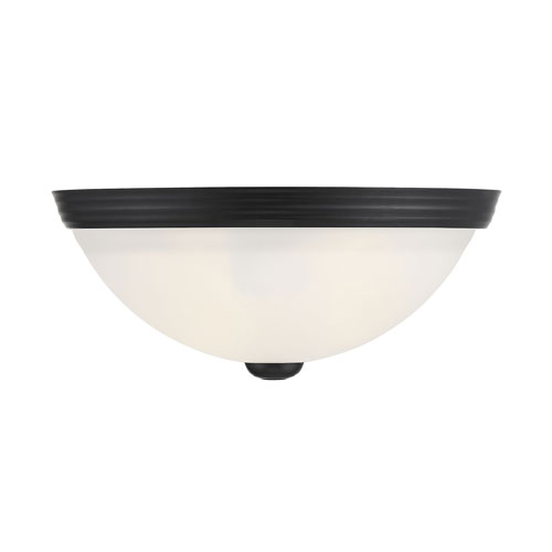 Flush mount Black 11-Inch Two-Light Flush mount