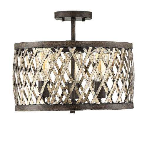 Sandoval Fiesta Bronze Three-Light Semi-Flush