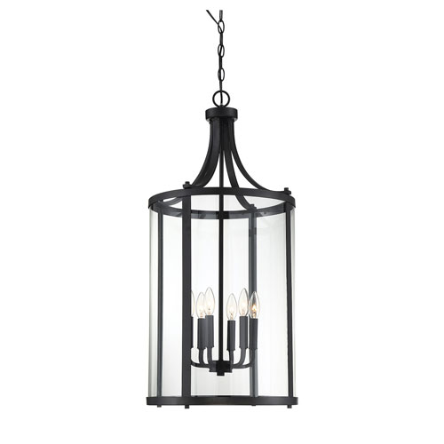 Savoy House Penrose Black Six-Light Pendant