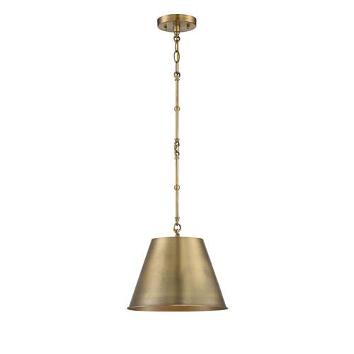 Alden Warm Brass One-Light Pendant