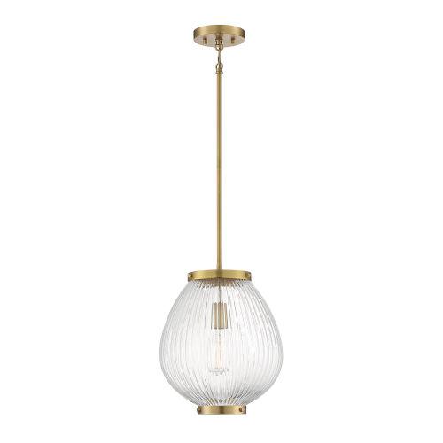 Welles Warm Brass One-Light Pendant
