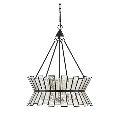 Chapelle English Bronze Six-Light Chandelier