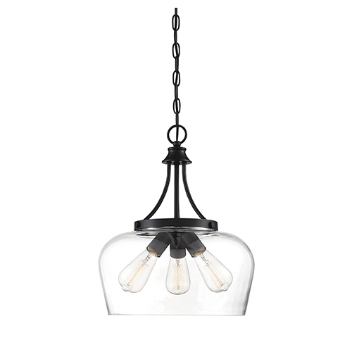 Octav Black Three-Light Pendant