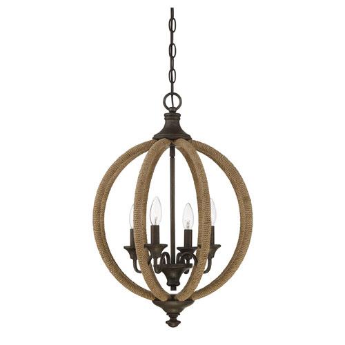 Findlay Artisan Rust Four-Light Pendant
