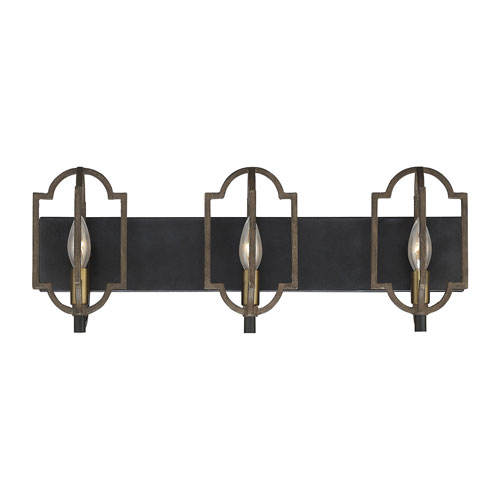 Westwood Barrelwood with Brass Accents Three-Light Bath Vanity