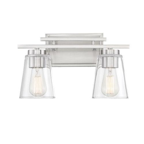 Calhoun Satin Nickel Two-Light Bath Vanity