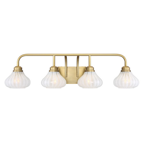 Darlington Warm Brass Four-Light Bath Vanity