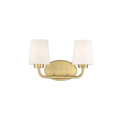 Capra Warm Brass Two-Light Bath Vanity