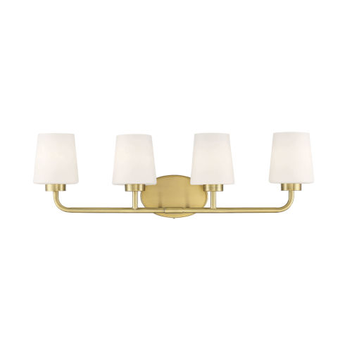 Capra Warm Brass Four-Light Bath Vanity