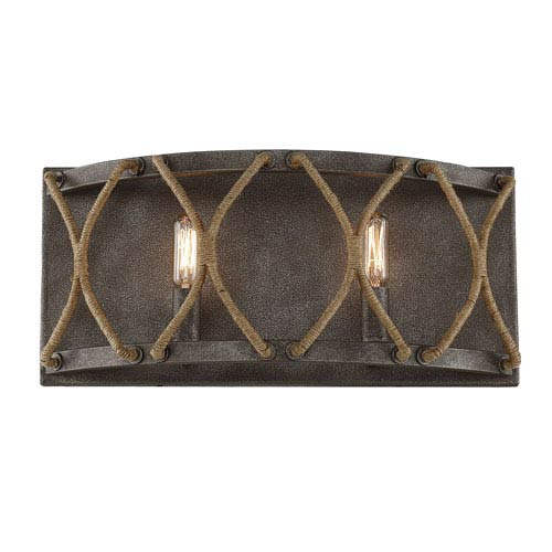 Savoy House Keating Artisan Rust Two-Light Bath Vanity