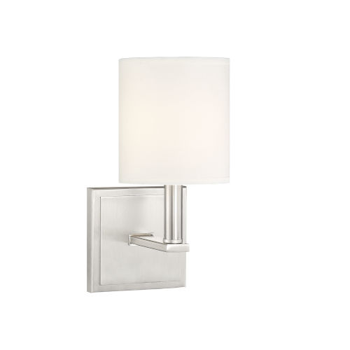 Waverly Satin Nickel One-Light Sconce