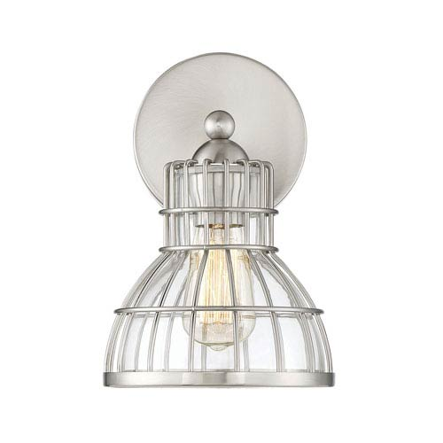 Grant Satin Nickel One-Light Wall Sconce