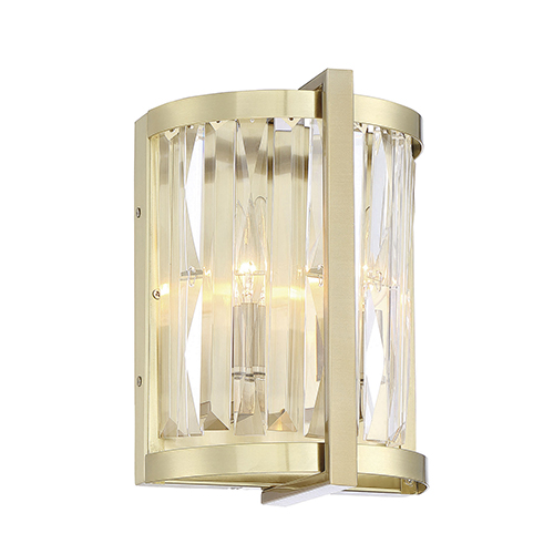 Cologne Noble Brass Two-Light Wall Sconce