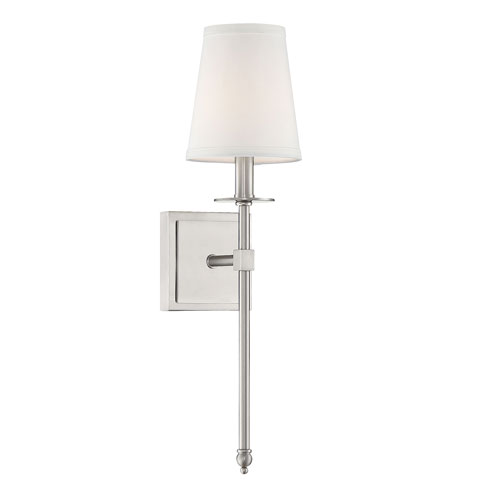 Monroe Satin Nickel 20-Inch One-Light Sconce