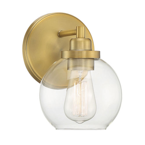 Carson Warm Brass One-Light Bath Vanity