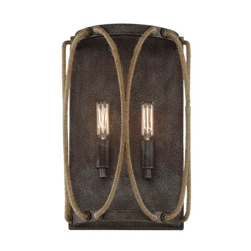 Keating Artisan Rust Two-Light Wall Sconce