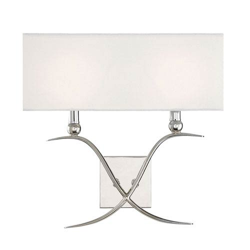 Payton Polished Nickel Two-Light Wall Sconce