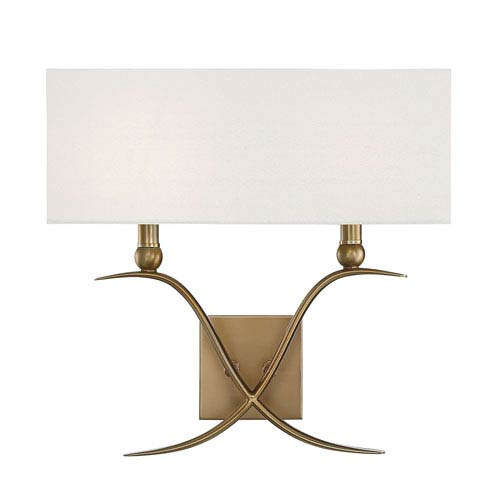 Payton Warm Brass Two-Light Wall Sconce
