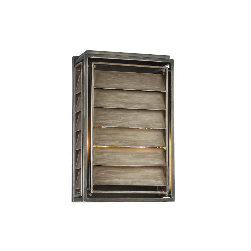 Hartberg Aged Driftwood Two-Light Outdoor Wall Sconce
