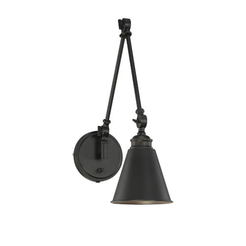 Morland Matte Black One-Light Sconce