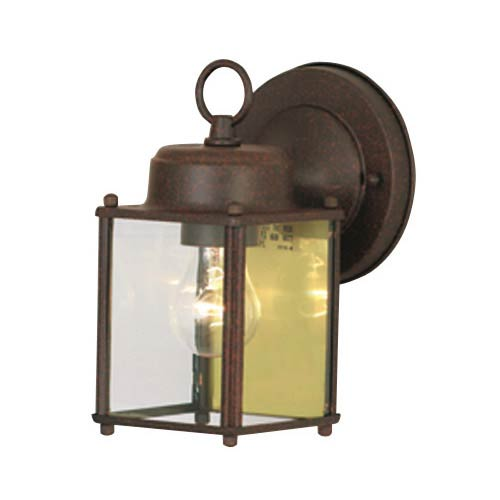 Rust Outdoor Wall-Mounted Lantern