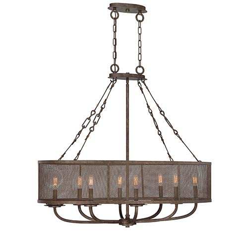 Savoy House Nouvel Bronze Eight-Light Oval Chandelier