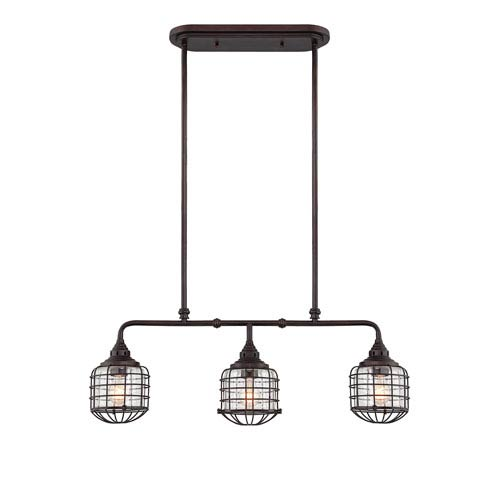 Connell English Bronze Three-Light Island Pendant