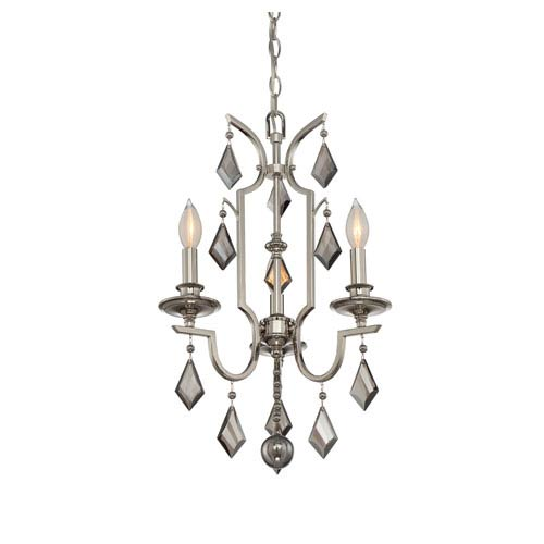 Polished Nickel Three-Light Mini Chandelier