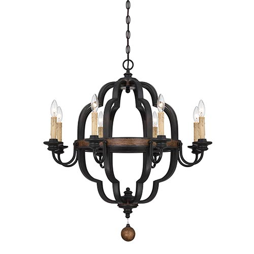 Savoy House Kelsey Bronze Eight-Light Chandelier