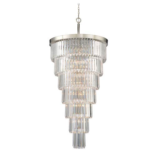 Tierney Polished Nickel 19-Light Pendant