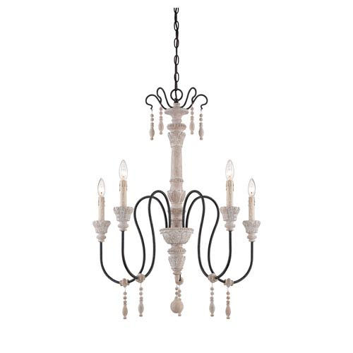 Savoy House Ashland Wood Five-Light Chandelier