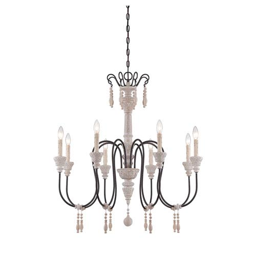 Savoy House Ashland Wood Eight-Light Chandelier