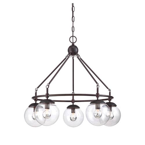 Savoy House Argo Bronze Five-Light Chandelier