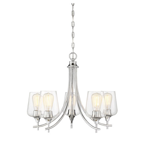 Octave Polished Chrome Five-Light Chandelier
