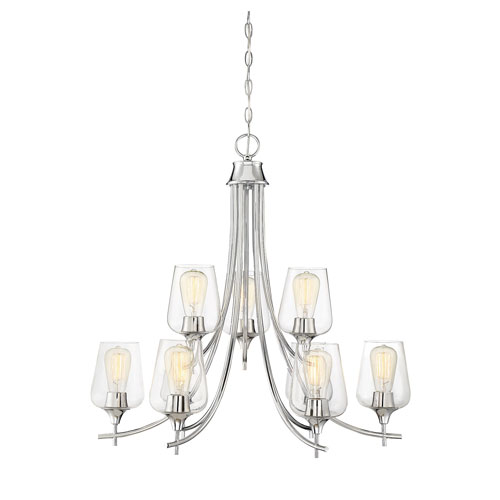 Octave Polished Chrome Nine-Light Chandelier