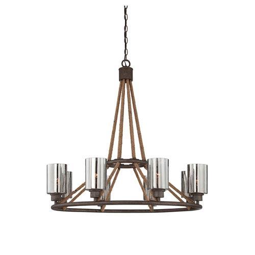 Savoy House Maverick Artisan Rust Eight Light Chandelier